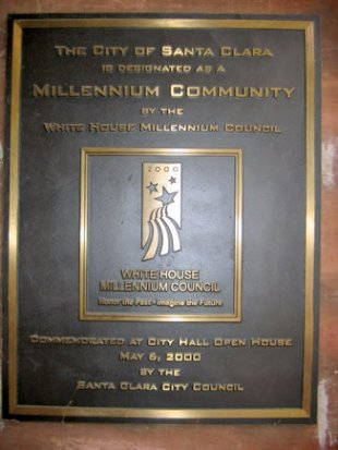 Millenium Community Designation Plaque-Commemorated at City Hall Open House, May 6, 2000 (medium sized photo)