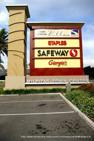 Town Center Sign Milpitas California Ca Photo