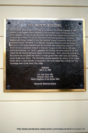 downtown historic del monte building plaque sunnyvale. Black Bedroom Furniture Sets. Home Design Ideas