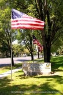 Veterans Memorial Sign in Santa Clara, CA